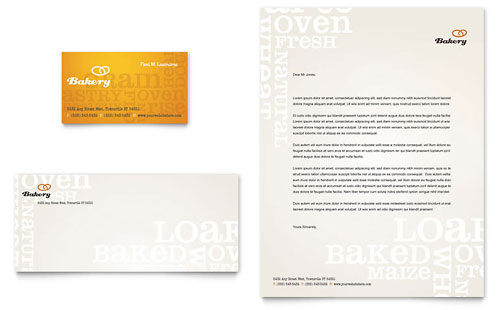 Artisan Bakery Business Card & Letterhead Template