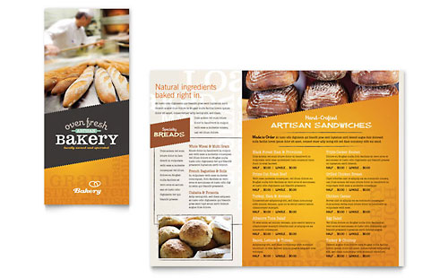 Artisan Bakery Take-out Brochure Template
