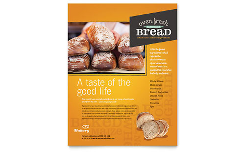 Artisan Bakery Flyer Template