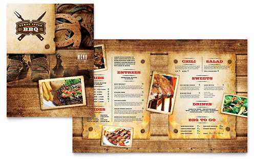 bbq restaurant menu template