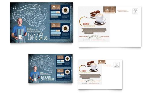Coffee Shop Postcard Template
