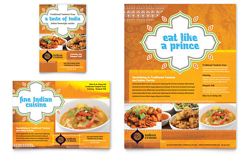 Indian Restaurant Flyer & Ad Template