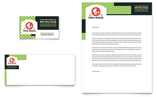 Pizza Parlor Business Card & Letterhead Template