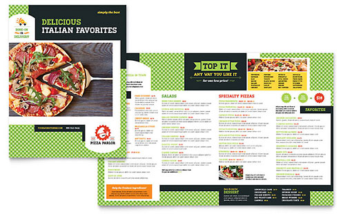 Pizza Parlor Menu Template