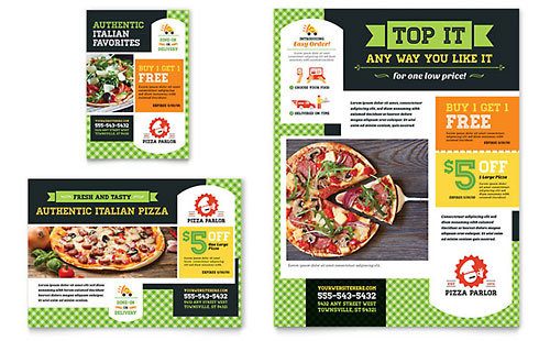 Pizza Parlor Flyer & Ad Template