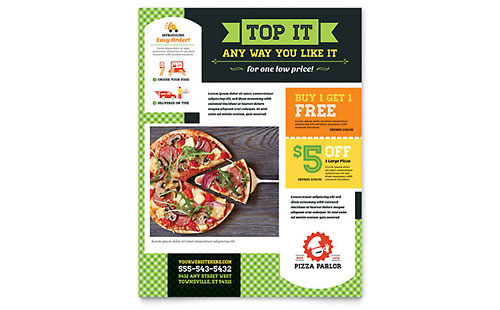 Pizza Parlor Flyer Template