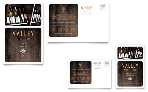 Winery - Postcard Sample Template