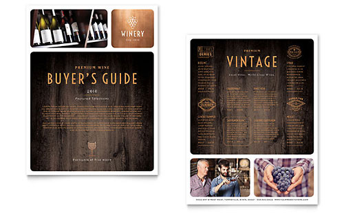 Winery Sales Sheet Template