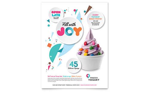 Frozen Yogurt Shop - Flyer Template