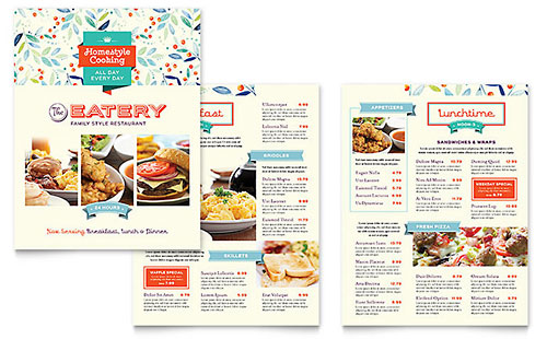 Family Restaurant InDesign Menu Template