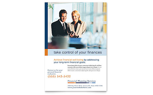 Financial Planning & Consulting Flyer Template