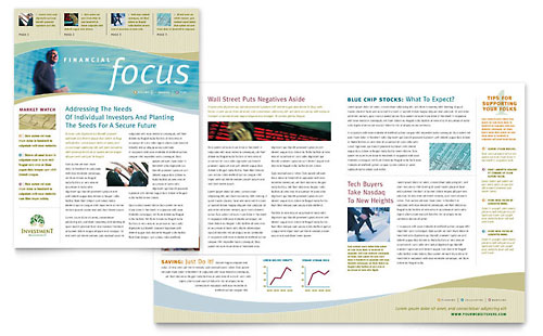 Investment Management Newsletter Template