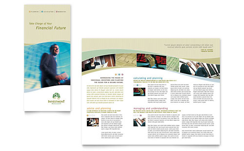 Investment Management Tri Fold Brochure Template