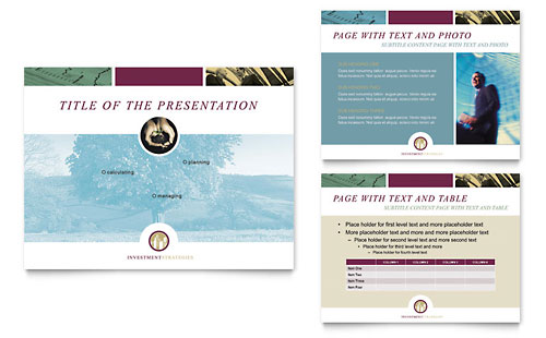 Financial Consulting PowerPoint Presentation Template