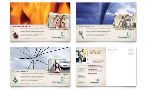 Life Insurance Company Postcard Template