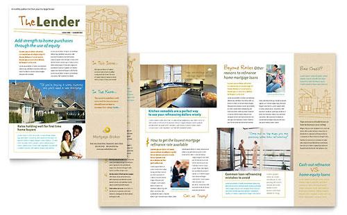 Mortgage Broker Newsletter Template