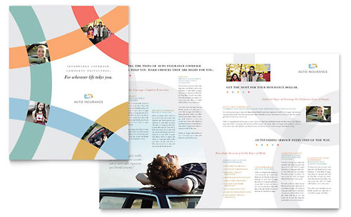 Car Insurance Company Brochure Template