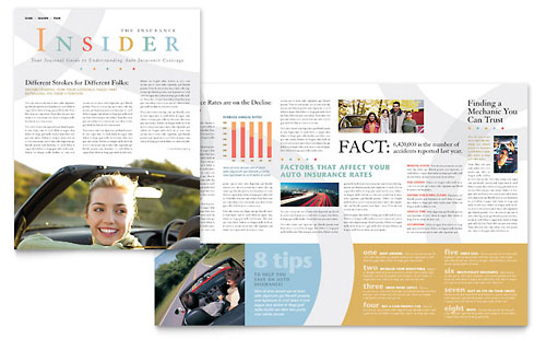 Car Insurance Company Newsletter Template