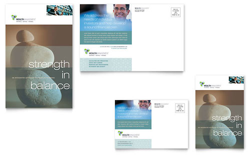 Wealth Management Services Postcard Template