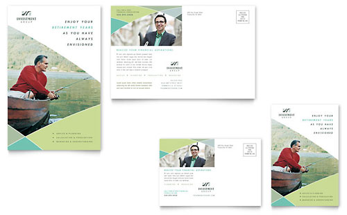 Financial Advisor Postcard Template
