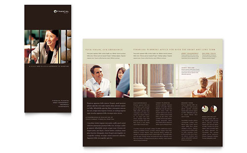 financial services tri fold brochure templates. Black Bedroom Furniture Sets. Home Design Ideas