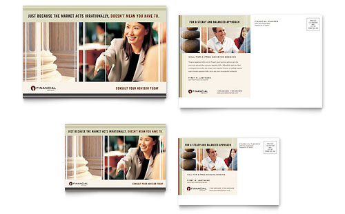 Financial Planner Postcard Template