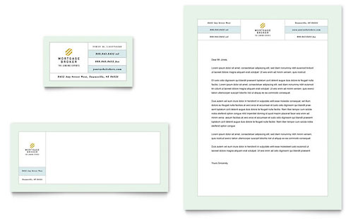 Mortgage Lenders - Business Card & Letterhead Template