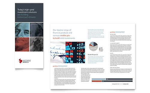 Investment Bank Tri Fold Brochure Template