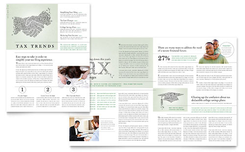 Accounting & Tax Services Newsletter Template