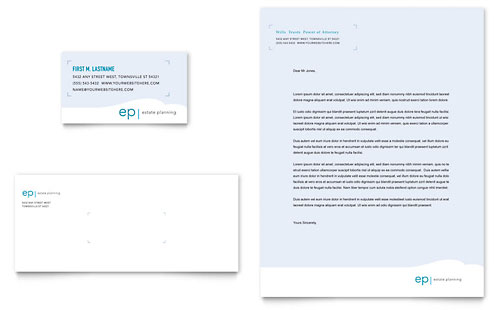 Estate Planning Business Card & Letterhead Template