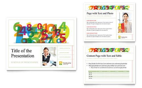 Bookkeeping Services Presentation Template - PowerPoint