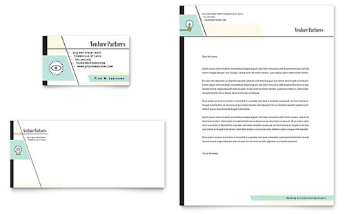 Venture Capital Firm - Business Card & Letterhead Template