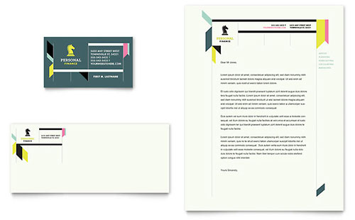 Personal Finance Business Card & Letterhead Template