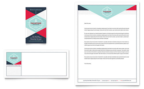 Tax Preparer - Business Card & Letterhead Template