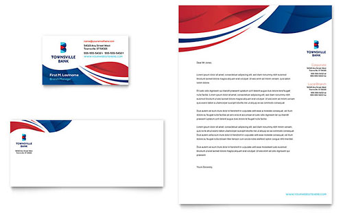 Bank Stationery Template