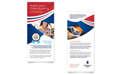 Bank Rack Card Template