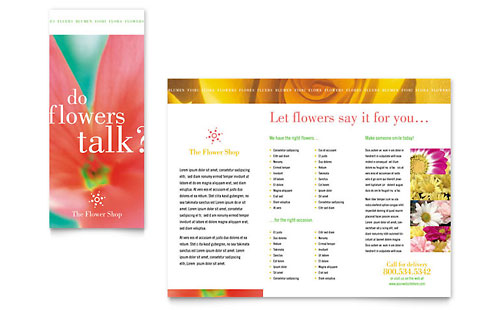 Florist Shop - Brochure Template