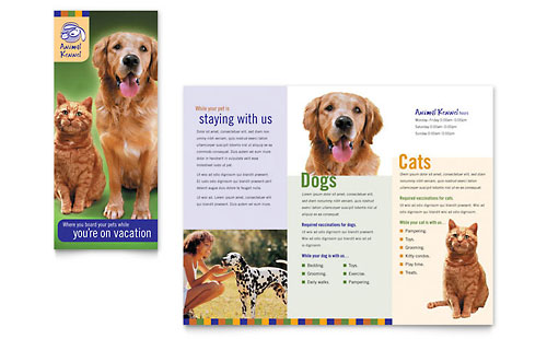 Dog Kennel & Pet Day Care Brochure Template