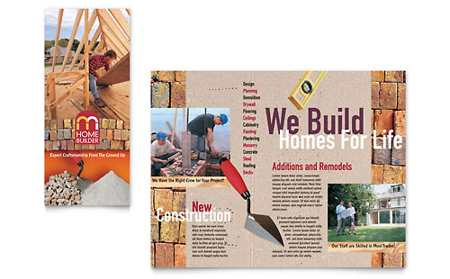 Home Builder & Contractor Brochure Template