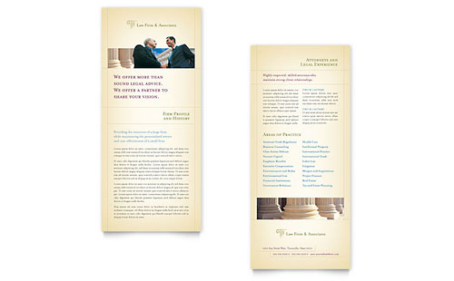 Attorney & Legal Services Rack Card Template
