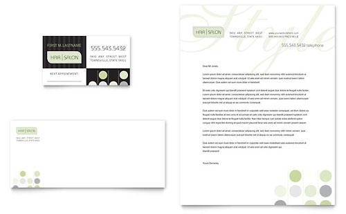 Beauty & Hair Salon Business Card & Letterhead Template