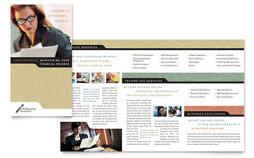 Bookkeeping & Accounting Services Brochure Template