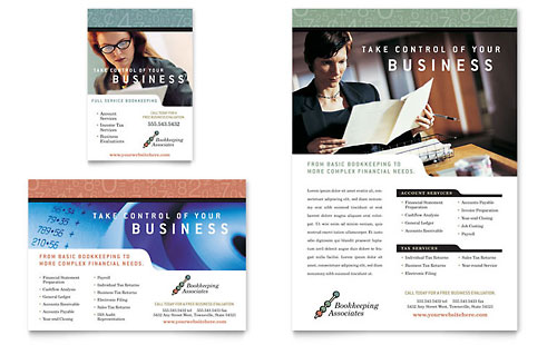 Bookkeeping & Accounting Services Flyer & Ad Template