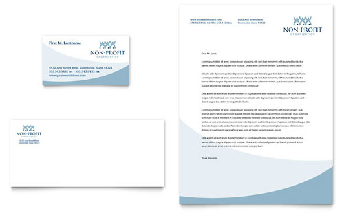 Community Non Profit Business Card & Letterhead Template