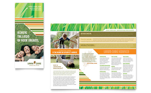 Lawn Care & Mowing Brochure Template