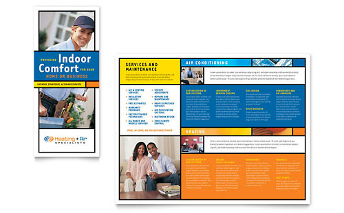 Heating & Air Conditioning Brochure Template