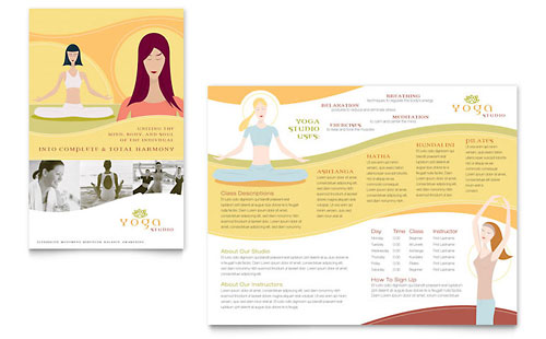 Yoga Instructor & Studio - Brochure Template