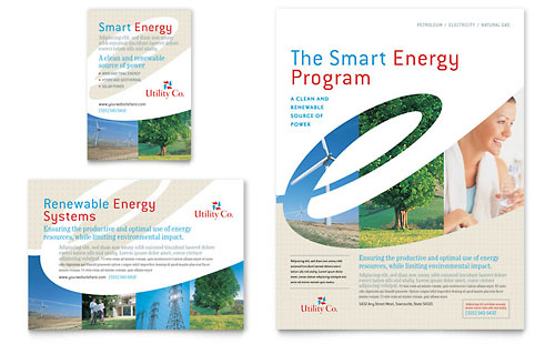 Utility & Energy Company Flyer & Ad Template
