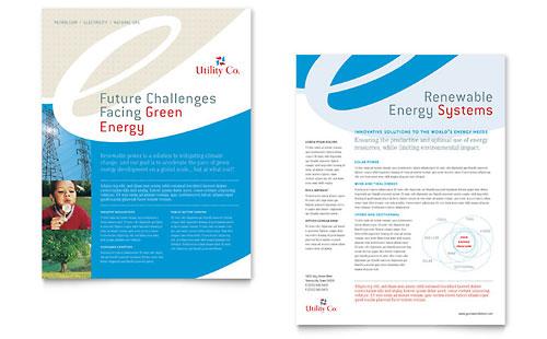 Utility & Energy Company Datasheet Template