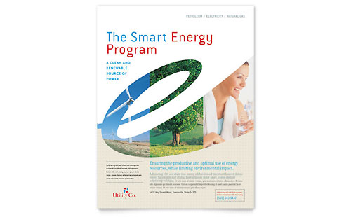 Utility & Energy Company Flyer Template